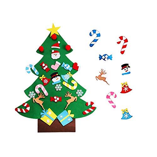 Eagles 2.95ft voelde kerstboom sieraden, DIY driedimensionale vilt doek kerstboom met opknoping sieraden, DIY muur decr opknoping kerstcadeaus voor kinderen thuis deur kerstversieringen