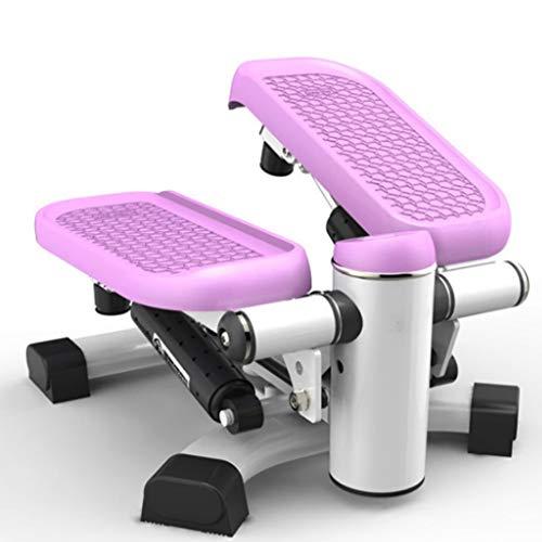 AWJ Multifunktions-Stepper Heimfitnessgeräte Mini Hometrainer Mini Stepper Stepper Pedal Lateral Mute Stepper,lila