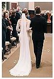 SHOYY Boda de Marfil de Marfil Velo de Novia Velo de Velo de Velo Accesorios de Boda con Peine Crudo Bridal Simple Velo (Color : Black, Item Length : 75cm)