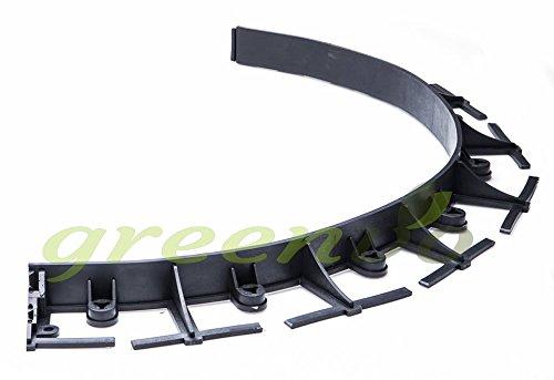 Eko-Bord Rasenkante für den Garten, flexibel, Kunststoff, Höhe: 45 mm, 2 Kanten mit 8 Heringen