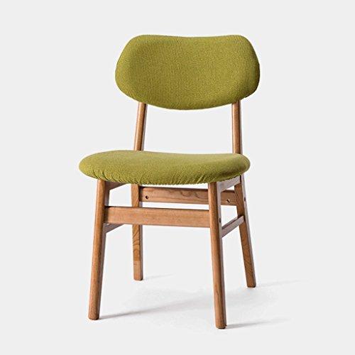 Fauteuils Chaise en Bois Solide Chaise créative Chaise de Bar Chaise Amovible en Tissu Chaise de café Moderne et Chaises (Couleur : D)