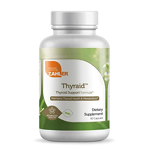 Zahler Thyraide, Thyroid Support Supplement with Iodine and L-Tyrosine, Helps Maintain Thyroid Health & Metabolism, Certified Kosher, 60 Capsules