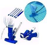 N /A limpiafondos Piscina, Aspiradora, Aspiradoras de Mano para Piscinas, Aspiradora de Chorro de Piscina portátil para bañera de hidromasaje de Fuente de SPA de Piscina, para Hojas (Azul)