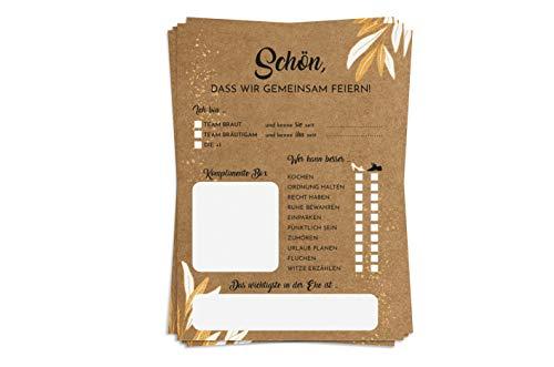 Hochzeitsspiel Karton Version I - 52 Vintage Postkarten mit Fragen - Hochzeitsgeschenk und kreative Alternative zum Gästebuch - Ein Jahr lang jede Woche eine Karte - von Sophies Kartenwelt