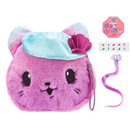 """Pikmi Pops Cheeki Puffs Large Pack - Kitty Couture The Cat - 1pc Large 7"""" Collectible Scented Shimmer Plush Toy in Perfume with Surprises"""