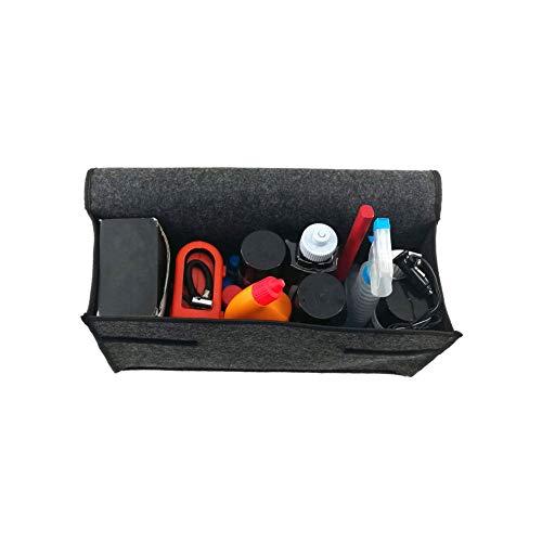 Vssictor Caja de almacenamiento plegable de fieltro suave para maletero, organizador de maletero de coche, herramientas de viaje