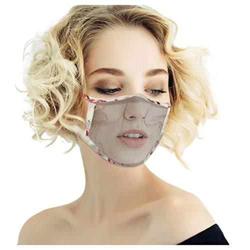 5pcs Reusable Face Guard, Mesh Face Bandanas for Adults, Breathable Face Covering (Multicolor 4pcs)