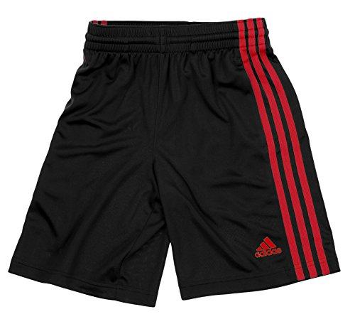 adidas Big Boys Youth Performance Climalite Shorts (Medium 10-12, Black-Red)