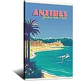 Póster vintage de Viajar, Affiche ANTIBES Juan-Les-Pins Picture...