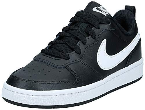 Nike Unisex-Child Court Borough Low 2 (GS) Sneaker, Black/White, 39 EU