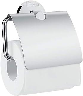 Hansgrohe Porte-papier Toilette WC avec couvercle Logis Chrome 41723000