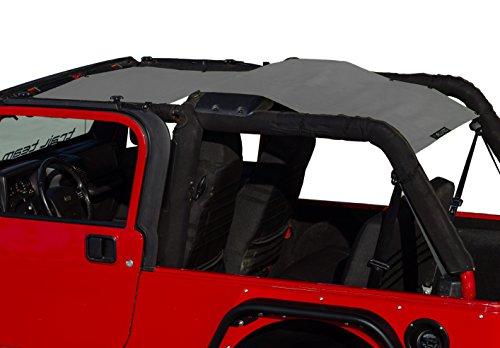ALIEN SUNSHADE for Jeep Wrangler LJ Unlimited (2004-2006) Full Length Sun Shade Mesh Top Cover (Gray) - Blocks UV, Wind, Noise