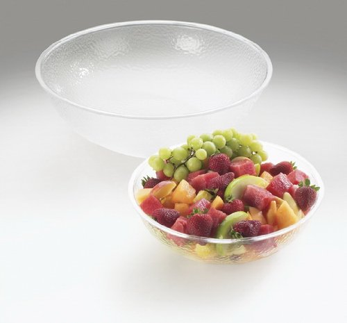 "Cal-Mil 401-15-34 Acrylic Salad Bowls, 15"" W x 15"" D x 5"" H, Clear (Pack of 6)"