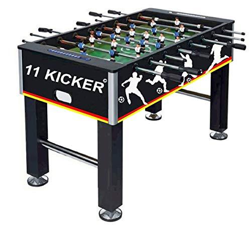 Izzy Kickertisch 45kg Tischkicker Profi Kicker Tischfußball, 2 Bälle, nahtlos hochgezogene Spielfeldecken, höhenverstellbare Füße, Erwachsene