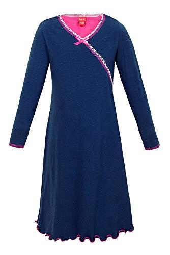 La-V Mädchen Nachthemd Langarm Navy/Größe 140/146