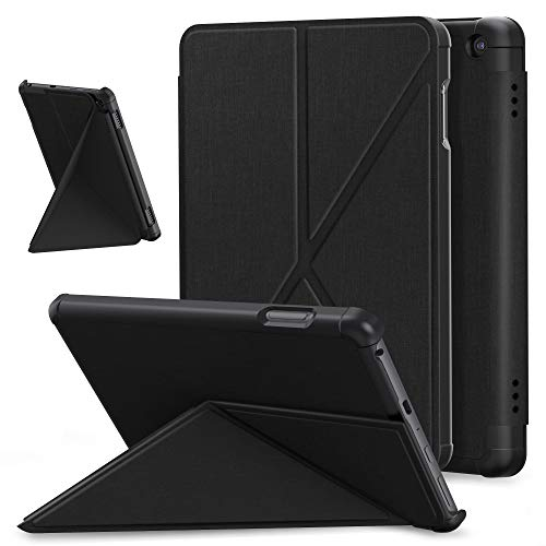 E NET-CASE Slim Case for All-New Fire HD 8 2020 & Fire HD 8 Plus Tablet ( 10th Generation,2020 Release) , Folding Stand Protective Cover with Hard Back Shell, Auto Sleep Wake (Black-2)