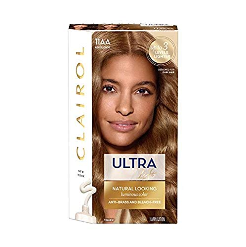 Clairol Nice'n Easy Ultra Lift Permanent Hair Color, 11AA Ash Blonde, 1 Count