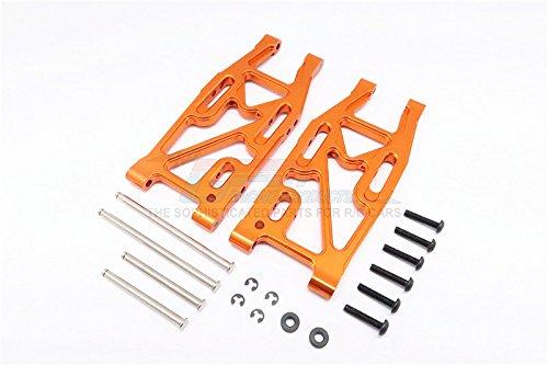 HPI Bullet 3.0 Nitro & Bullet Flux Tuning Teile Aluminium Rear Suspension Arm - 1Pr Set Orange