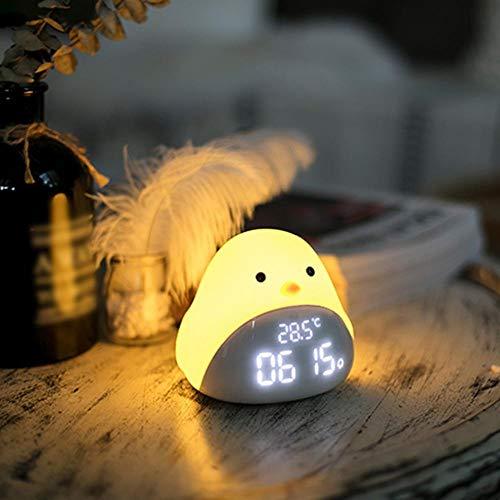 Wekker Bird wekker Wake Up Light Digital Led licht Nacht Natuur Lamp Klok Sunrise Kleurrijke Light met natuurgeluiden (Color : Green, Size : Free)