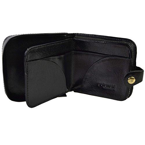 Golunski Qualità top borsellino portafoglio da uomo, in pelle con vassoio portamonete  nero Black