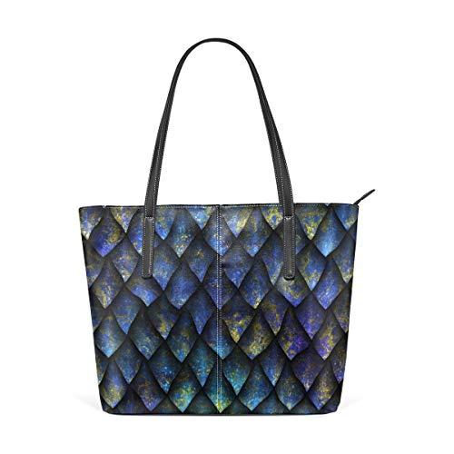 Mermaid Plaid Purple Bunte PU-Ledertasche mit Reißverschluss Große Damen-Freizeit-Umhängetasche Handtasche, Wiederverwendbare Mehrzweck-Ledertasche für den Außenbereich