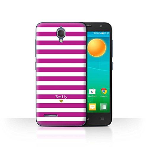 Stuff4Phone Case/Cover/Skin/alcidl2m/Custom Stripes/Striped Collection Coeur/Fuchsia Rose