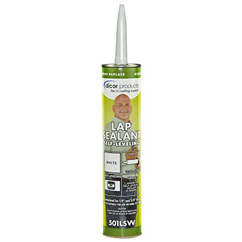 Dicor 501LSW-1 Epdm Self-Leveling Lap Sealant-10.3 Oz. Tube, White, 10.3 Fluid_Ounces (Packaging May Vary)