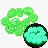 Piedras luminosas verde Paq. 150 uni – Piedras Brillantes - Piedras decorativas de colores – Piedras que brillan en la oscuridad para jardín, acuario – Piedras decorativas fluorescentes (Verde)
