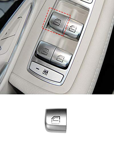 TTCR-II Interior Window Glass lift Switch Button For Mercedes Benz, 1 Pc Window Control Power Push Button Cover For W205 C Class W213 E Class W253 GLC Class 2017-2020