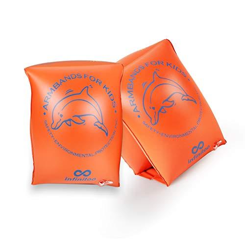 infinitoo Schwimmflügel Kinder, Medium Size,Schwimmreifen Schwimmen Armbands für Kinder und Kleinkinder ab 3 - 8 Jahre