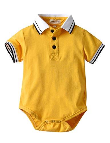 Angcoco Adorable Infant Boy-Girl Twins Short Sleeve Cotton T-Shirt Romper Bodysuit w/Skirt Hem