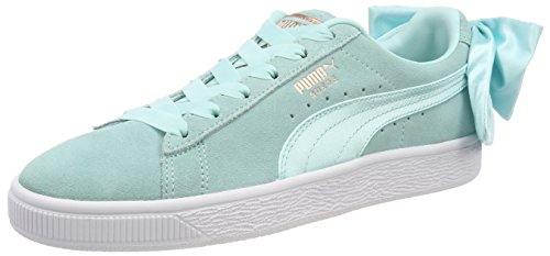 PUMA Suede Bow Wn's, Sneakers Basses Femme, Bleu (Island Paradise-Island Paradise), 38.5 EU