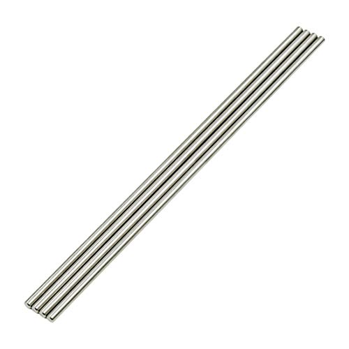 Sydien 4mm x 200mm Solid Stainless Steel Round Shaft Rod for DIY RC Car Airplane 4pcs