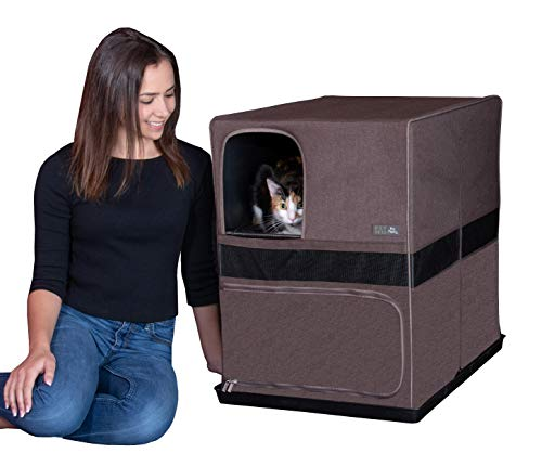 """Pet Gear Pro Pawty for Cats, Put an end to Scattered Litter, Box not Included, Espresso, Space Saver - 26.5""""L x 19.5""""W X 26.5""""H, Model Number: PG4619ESC"""