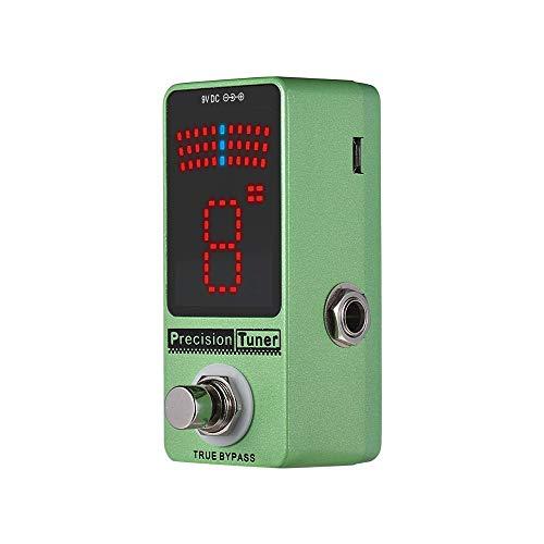 Guitar Effect Pedal Guitar Tuner Pedal Precision Tuner Pedal Guitar Pedal Tuner LED Display With True Bypass For Chromatic Guitar Bass