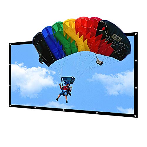 NIERBO 150 inch Portable Projector Screen Outdoor 16:9 Movie Screen for Projection Double Sided for Home Theater No Wrinkles with 22 Traceless Nails and One Rope