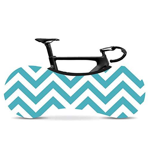 YRDDJQ Cubierta de Bicicleta Corrugada Serie Cubierta de Polvo de Bicicleta de Carretera Simple y Elegante Cubierta de Bicicleta de Fibra Elástica Cubierta de Polvo de Neumático de Interior, D