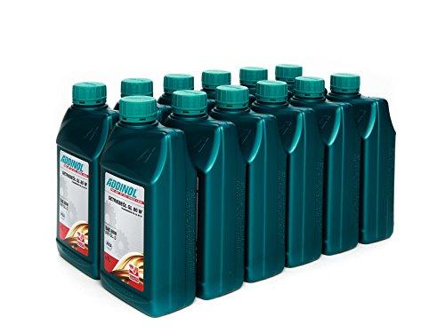 ADDINOL ADDINOL GL 80 W GETRIEBEÖL GL-3, 1 Karton, 12x1L Dose (Bestellmenge 1 = VPE 12L) (11 Liter bezahlen, 1 Liter GRATIS)