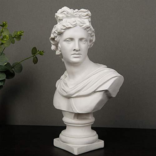 JANEFLY Estatua Grande de Busto de Apolo, Estatua de Avatar de Personaje, decoracin de habitacin, adelos, mitologa Griega, Yeso, artesana, Oficina, Hotel, Sala de Estar, decoracin, Regalo, 30,5