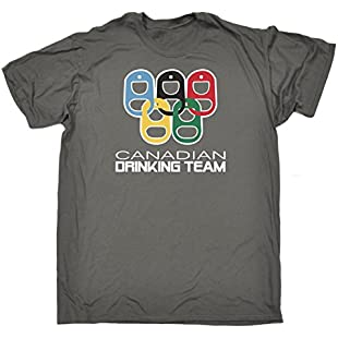 123t Men's Canadian Drinking Team Rings Joke Funny Bar Pub T-Shirt