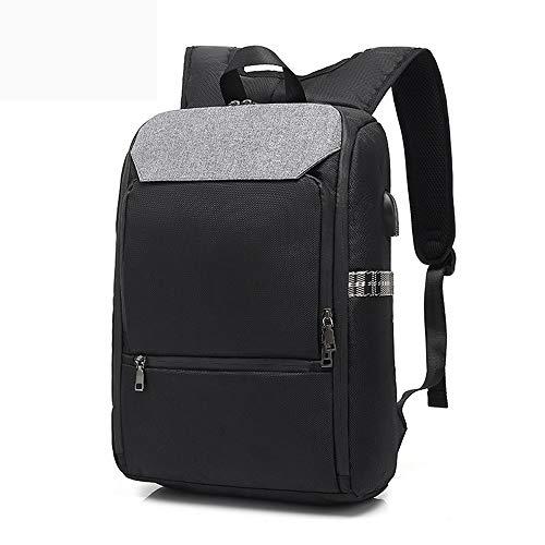 Lpiotyubeib Mochila, Mochila Mochila for portátil de Carga USB backbag Viaje Daypacks Escuela Hombre Bookbag Ocio Mochila antirrobo. (Color : Black)