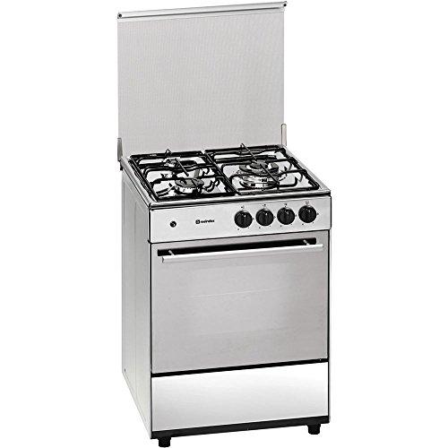 Meireles G 603 X NAT - Cocina (Cocina independiente, Acero inoxidable, Giratorio, Vidrio, Acero inoxidable, Frente, Fondo)
