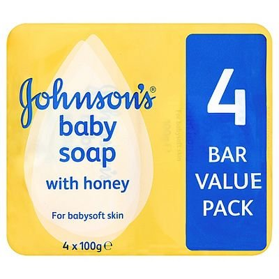 Johnson's Baby Soap met Honing 4 Bar Value Pack