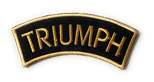 Parche bordado para planchar o coser con el logotipo de Scooter Rally Triumph con hombros dorados