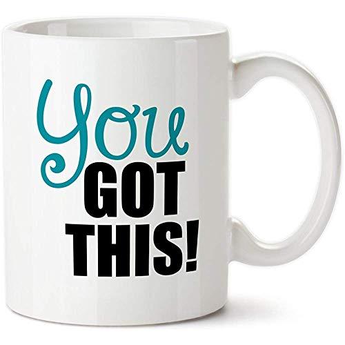 Taza de porcelana Drinkware personalizado Tazas Estampado cerámico 11 oz Taza de café divertida-Creativa