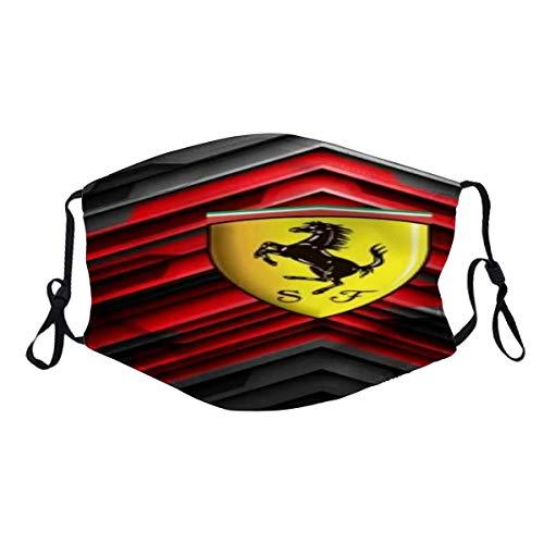 maichengxuan Fe-rr-ari ist EIN weltberühmter Rennwagen und Sportwagen (18) Staubwaschbarer wiederverwendbarer Filter und wiederverwendbarer Mund Warmes winddichtes Baumwollgesicht
