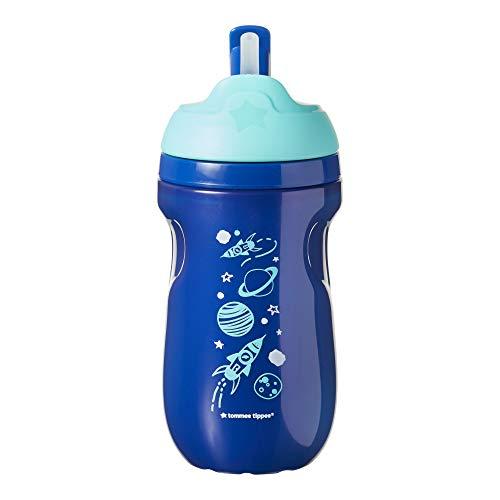 Tommee Tippee 44702381 - Taza con pajita aislada, para 12 meses, color azul, diseño aleatorio