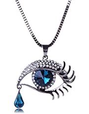 QD-5982-1 Fashionable Eye Shaped Pedant with Long Chain for Ladies