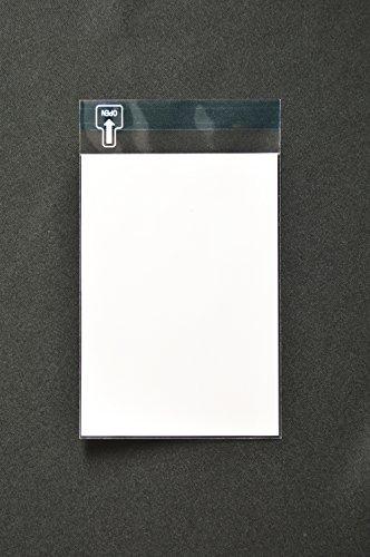 印刷透明封筒 A6 【4,000枚】 OPP 40μ(0.04mm) はがき/写真用 切手/筆記可 静電気防止処理テープ付き 折線付き 横110×縦155+フタ30mm印刷可