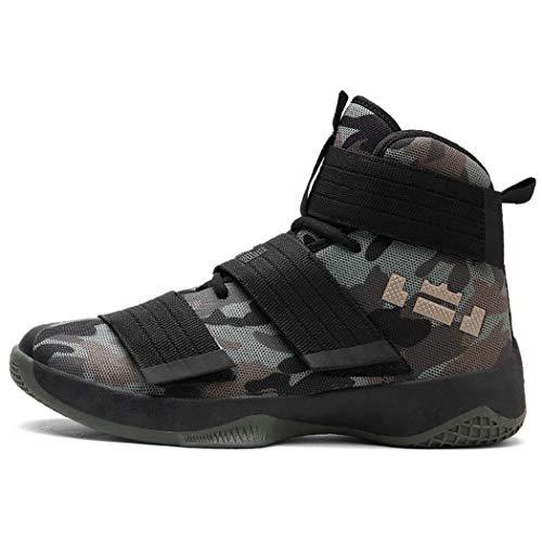 Basketballschuhe Turnschuhe 2019 Paar Modelle Klettverschluss Hoch, Damit Die Schüler Atmungsaktive Schuhe In Großen Größen Gestalten Können (45,E)
